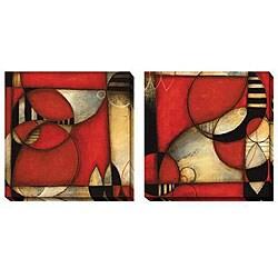 DeRosier 'Zenith' Oversize Canvas 2-piece Art Set