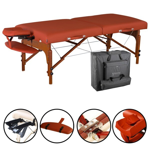 Master Massage Santana LX 31-inch Portable Massage Table with Accessories