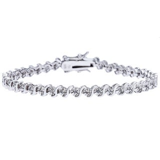 Sterling Silver 1/4ct TDW Diamond Bracelet