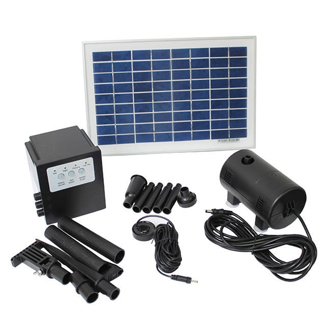 Overstock.com Solar Powered 8-watt 18-volt Water Pump with Battery and Timer