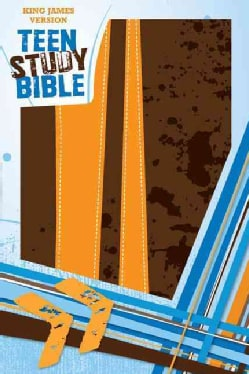 Holy Bible: King James Version Burnt Orange / Fudge Italian Duo-Tone Teen Study Bible (Paperback)