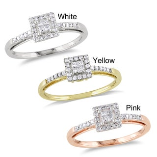 Miadora 10k Gold 1/5ct TDW Diamond Engagement Ring (H-I, I2-I3)
