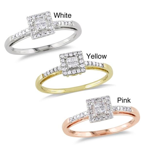 Miadora 10k Gold 1/5ct TDW Diamond Ring (H-I, I2-I3)