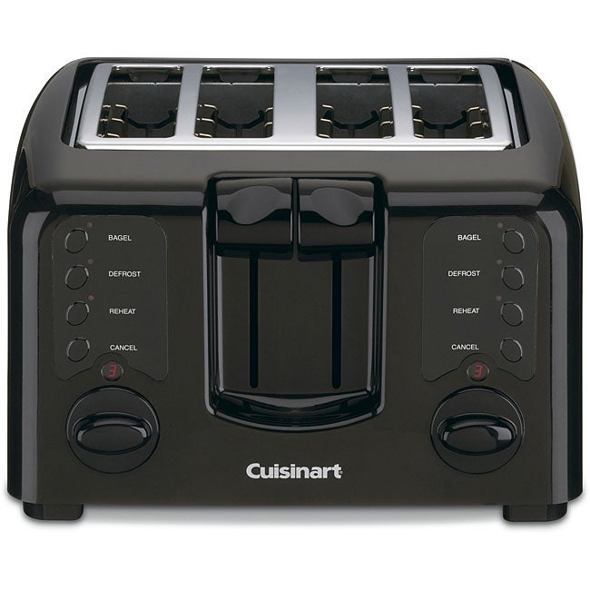 Cuisinart CPT-140BKFR Black Compact 4-slice Toaster (Refurbished)