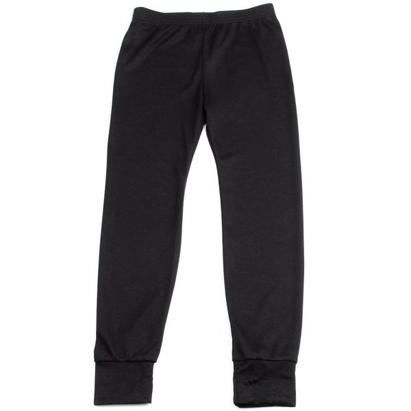 Kids' Midweight Thermal Black Bottoms