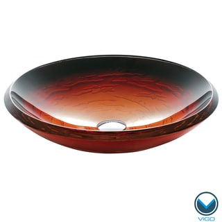VIGO Magma Glass Vessel Bathroom Sink