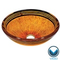 VIGO Tangerine Glass Vessel Bathroom Sink