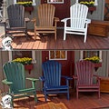 PHAT TOMMY Recycled Polywood Deluxe Folding Adirondack Chair