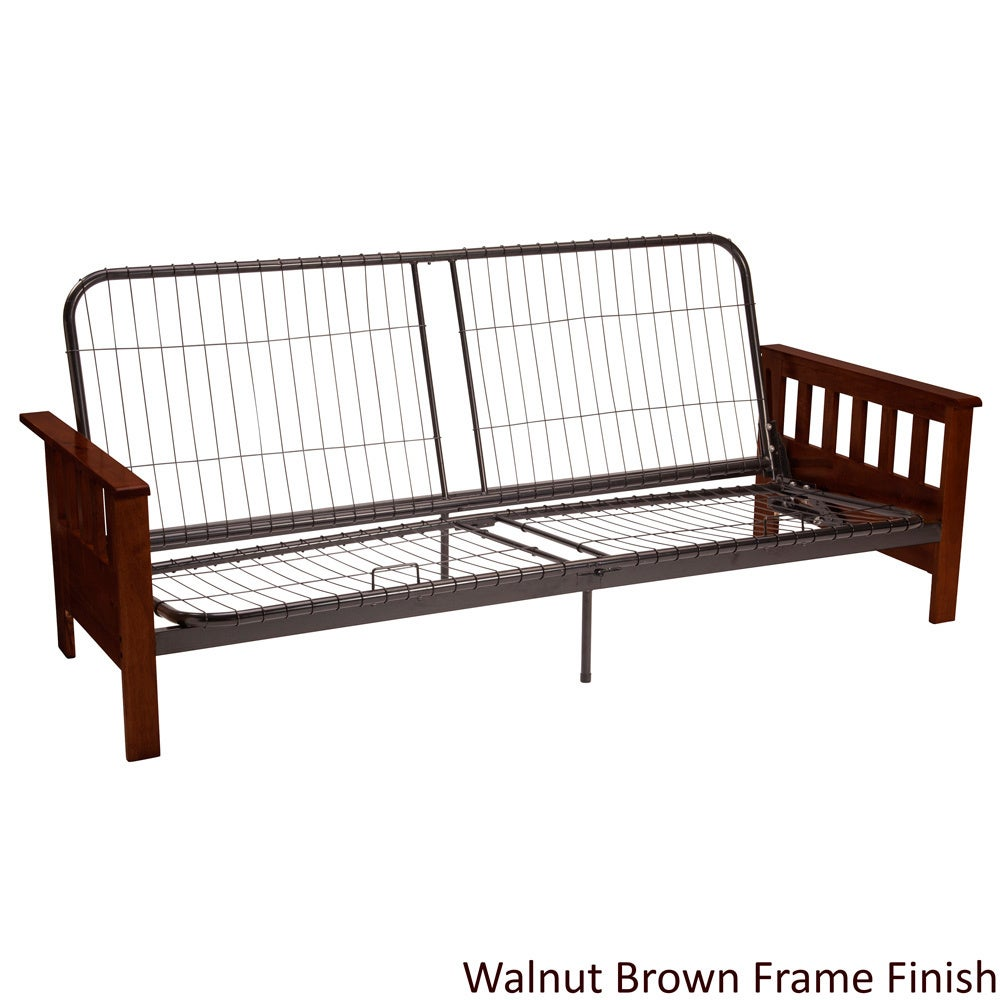 Provo Full Or Queen Size Mission Style Futon Sofa Sleeper Frame Overstock Shopping Great