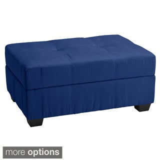 Vanderbilt 36 x 24 Tufted Panel Stitched Padded Hinged Storage Ottoman Bench