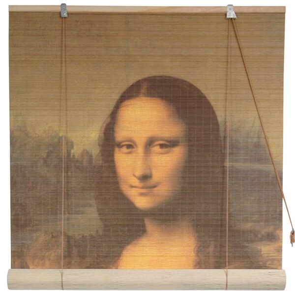 Da Vinci's 'Mona Lisa' 36-inch Bamboo Blind (China)