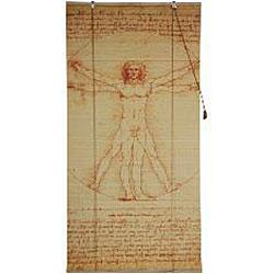 Da Vinci's Vitruvian Man 48-inch Bamboo Blind (China)