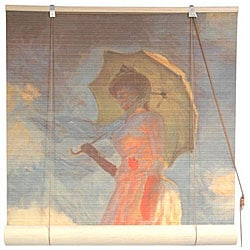 Monet's 'Girl With a Parasol' 36-inch Bamboo Blind (China)
