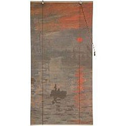 Monet's 'Impression Sunrise' 36-inch Bamboo Blind (China)