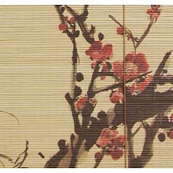 Sakura Blossom 36-inch Bamboo Blinds (China)