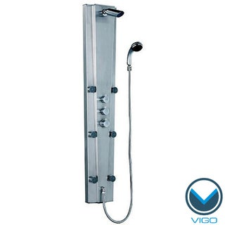VIGO Stainless Steel Thermostatic Shower Massage Panel