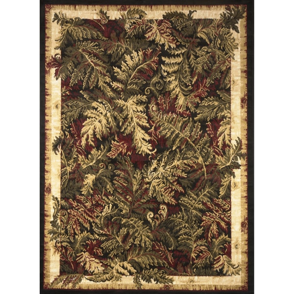 Machine-woven Forest Area Rug (7'8 x 10'4)