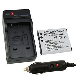 Camera Battery and Charger for Sony Cybershot BG1 DSC-W120