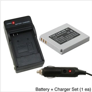 Battery and Charger Set for Canon PowerShot SD600 SD750 SD630