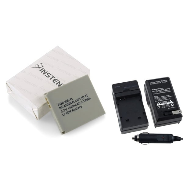 INSTEN Battery and Charger Set for Canon PowerShot SD600 SD750 SD630
