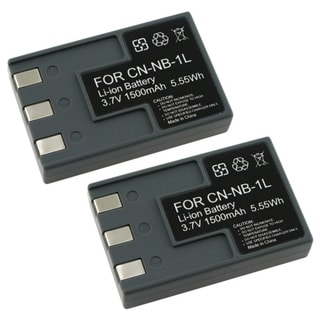 Two Battery Pack for Canon NB-1LH / NB-1L / S410 S500