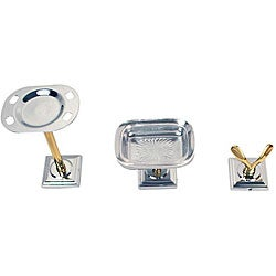 Moen Monaco Chrome Polished Brass 3-piece Bath Accessory Kit