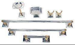 Moen Monaco Chrome Polished Brass 7-piece Bath Accessory Kit