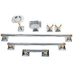 Moen Monaco Chrome Polished Brass 7-piece Bath Accessory Kit