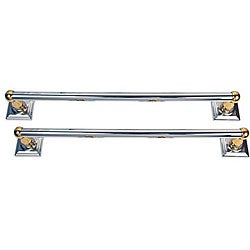Moen Monaco Chrome and Brass 2-piece 18-inch Towel Bar Set