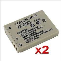 INSTEN NB-5L Batteries for Canon PowerShot SD790 SD890 IS (Pack of 2)