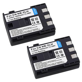 Premium NB-2LH Batteries for Canon Eos Rebel XT Xti (Set of 2)