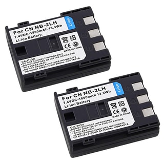 INSTEN Premium NB-2LH Batteries for Canon Eos Rebel XT Xti (Set of 2)