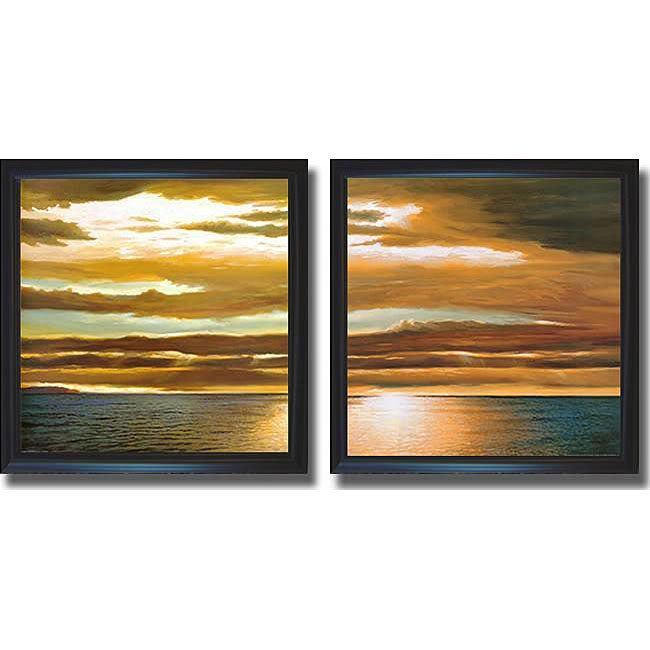Dan Werner 'Reflections on the Sea' Framed Canvas 2-piece Art Set