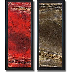 Kerry Darlington 'Lava & Suzuki' Framed Canvas Art Set