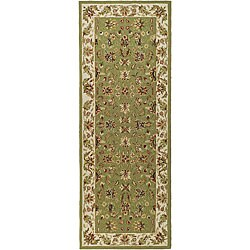 Safavieh Hand-hooked Chelsea Tabriz Sage/ Ivory Wool Runner (3' x 10')