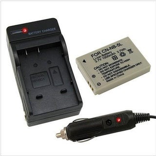 Canon NB-5L Battery and Charger 250380 for PowerShot SD990 SD950