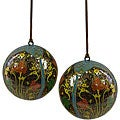 Set of Two Blue Hope Ornaments (India)