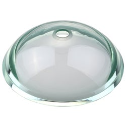 Kraus 19-mm Aquamarine Glass Vessel Sink with 34-mm Edge