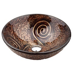 Kraus Luna Glass Vessel Bathroom Sink