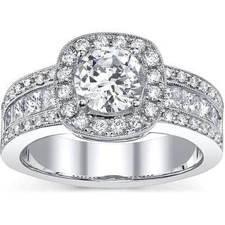 18k Gold 2ct TDW EGL Diamond Engagement Ring (H-I, SI1-SI3)