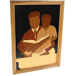 Father and Son 'Our Time Together' Wood Overlay Picture (Ghana)