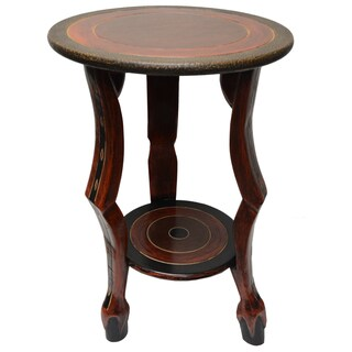 Handmade 'Adepa' Semi-circle Accent Table (Ghana)
