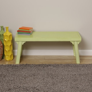 Retro Green Handmade Hepple Bench (Indonesia)
