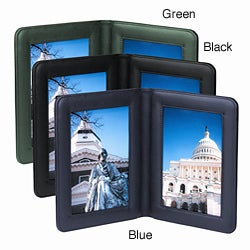 Royce Leather Double 3 x 5-inch Picture Frame