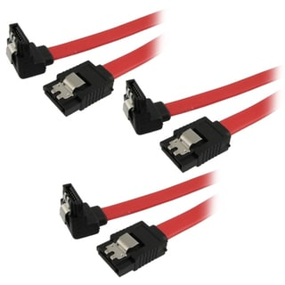 SATA Serial ATA HD Hard Drive Right Angle Data Cables (Set of 2)