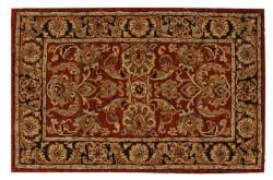 Nourison Hand-tufted Caspian Rust Wool Rug (3'6 x 5'6)