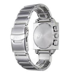 Asics Men's 'Square Chronograph' Stainless Steel Bracelet Watch