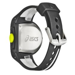 Asics Men's 'Active Running' Black and White Rubber Strap Digital Watch