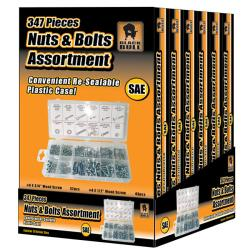 Black Bull 347-piece SAE Nut and Bolt Assortment (Pack of 6)