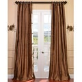 Signature Mocha Textured Silk 108-inch Curtain Panel